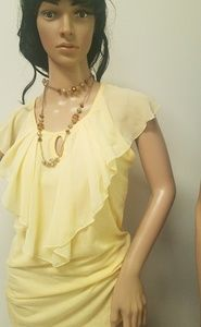 Gorgeous French Laundry Top Sunny Yellow Sz M